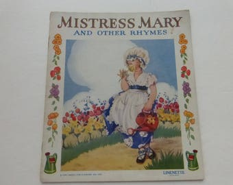 Antique Mistress Mary and Other Rhymes by Sam'l Gabriel Sons Linette Children's Book