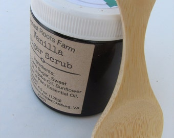 Bamboo Wooden Spoon - Sugar Scrub Add On - Sugar Scrub Spoon