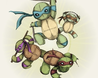 Teenage Mutant Ninja Plush 2.0 Fine Art Print