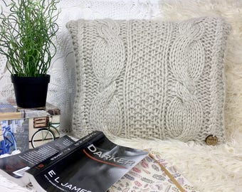 Vintage Hand Made Decorative Wool hooked Pillow