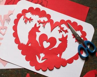 Scissor Cut Valentine Kit