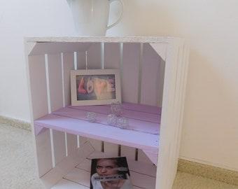 """dekorative weisse Holzkisten mit Zwischenboden (pastellf.) """"Shabby-Chic"""""""