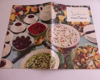 Vintage Cookbook Luncheons in Party Dress from Herb-Ox