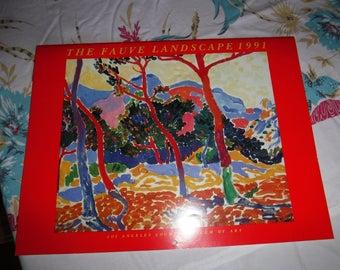 1991 the fauve landscape calendar by judi freeman