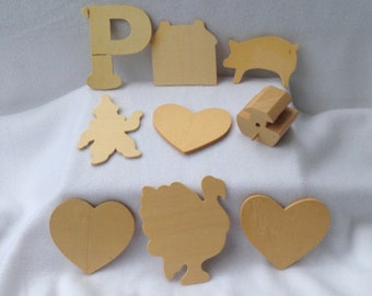 Wood Cutouts, Blank Wood Shapes, Wood Shapes, Wood Art Supplies, Themed Wood Cutouts, Varied Wood Shapes, Blank Wood Cutouts, Wood Art Items