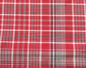 Traditional Jamaican Bandana Plaid Fabric - 1 yard, Jamaica, Independence Day, International Day, School, Church, Dance Group