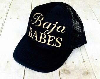 Baja Babes Trucker Hat | Baja Babes Hat | Mexico Vacation Trucker Hat | Mexico Trucker Hats | Group Vacation Trucker Hats | Baja Babe Hat