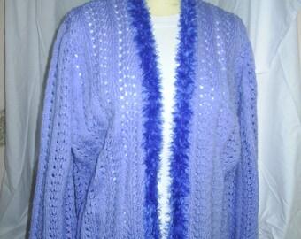 Ladies 1930's style Blue Evening Jacket