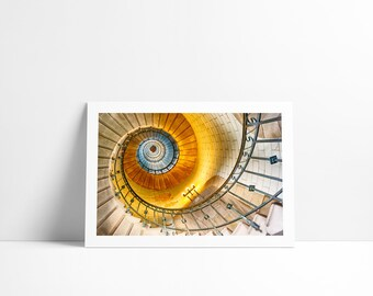 The staircase of the lighthouse of Eckmuhl, Fine Art print signed and numbered