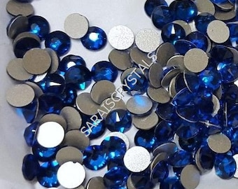 50 pcs Swarovski SS20 2088 Crystal Flatbacks Capri Blue 20ss (4.6 - 4.8mm)  Xirius