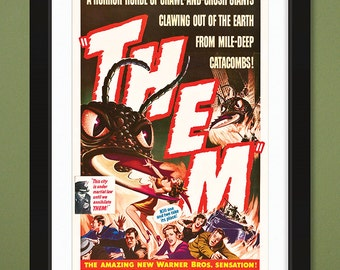Vintage Movie Poster – THEM 1954 (12x18 Heavyweight Art Print)