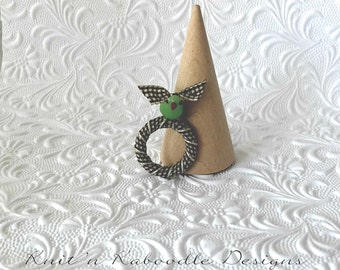 Blue Bird Ring Woodland Ring Collection