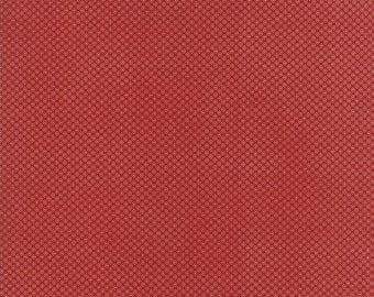 Moda - Needle & Thread Gatherings - Flower Dot Red - Russet/Tallow  - Fabric by the Yard 1234-13