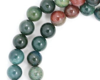 Indian Bloodstone Beads - 6mm Round