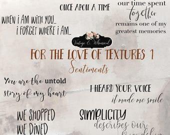 Romance Overlays, Valentines word art, love clipart, friendship clipart, friendship word art, digital scrapbooking, instant download