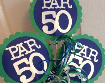 50th Birthday Centerpiece Signs Golf Theme Party Ideas