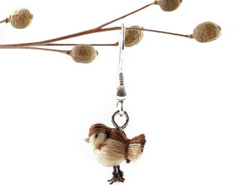 DORIMU miniature bird earing - SPAROW (bright)