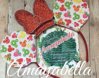 Fruity Mouse ears headband~photo prop~ perfect for all ages! Vacation