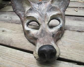 Coyote mask, animal costume mask, spirit mask, Desert, masquerade mask, animal totem, Wild Dog costume, made to order, custom made