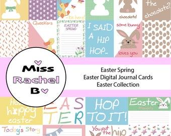 Easter Digital Journal Cards // Easter Spring // Easter Collection