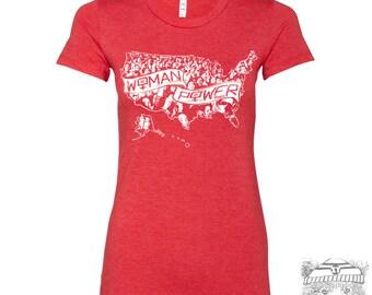Womens Solidarity WOMAN POWER Resist T Shirt - Bella Favorite Tee s m l xl xxl xxl custom