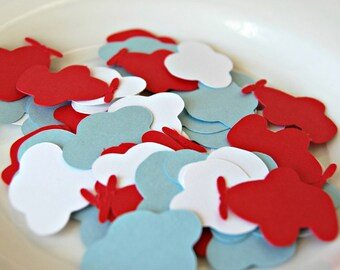 READY TO SHIP Airplane Cloud Birthday Party Confetti