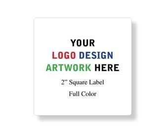 "Custom Professional Company Business Logo Design Labels Stickers 2"" square"