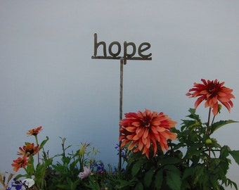 Metal Garden Sign YOUR choice 53 word to choose from...19 Inches Tall