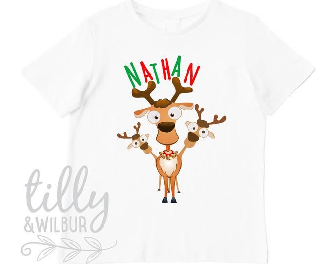 Christmas Reindeer T-Shirt For Boys