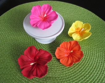 Royal Icing Hibiscus Flowers Many Colors and Sizes