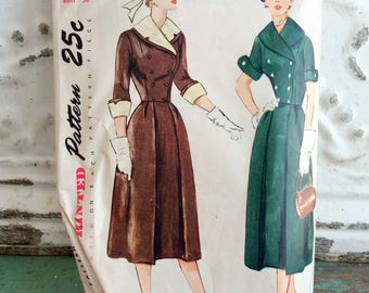 1940s Simplicity Junior Misses Two Piece Dress Sewing Pattern Size 12 bust 30