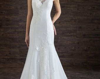 Formal chic mermaid dress with appliques