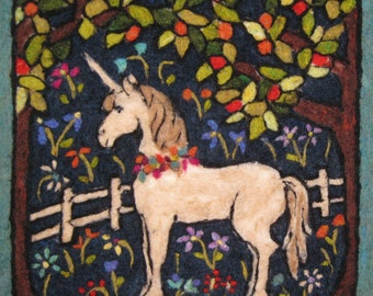 Unicorn in an Orchard Tapestry Needle Felting Kit