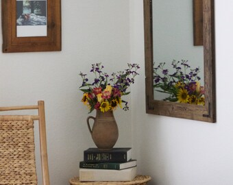 Large Wood Wall Mirror, Large Wood Mirror, Large Rustic Wall Mirror, Large Wall Mirror, Large Vanity Mirror, Large Bathroom Mirror - Rustic