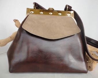 Classy Brown and Beige Purse