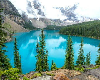 Moraine Lake Print - Canada - Canadian Rockies Photo - Home Interior Wall Art, Travel Photograph, Art Photo Print, Fine Art Photography