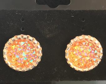 Druzy Stud Post Earrings