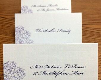 Vintage Flower Custom Printed Wedding Place Cards