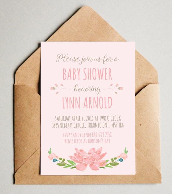 Baby shower invitation girl girl baby shower invites floral filmwisefo