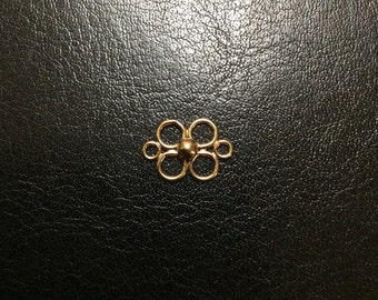 14K Gold Filled 6-Rings with 3mm Ball Component, 13x9mm, Two pieces