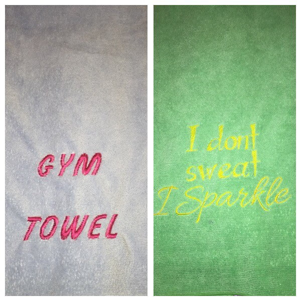 Embroidered Gym Or Sweat Towels