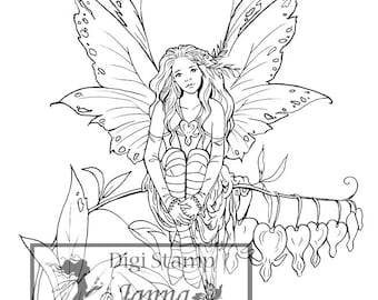 Digital Stamp, Printable, Instant download, Digi stamp, Coloring page, Art of Janna Prosvirina