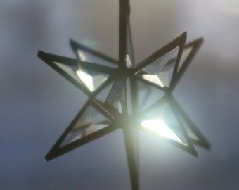 Small clear beveled star