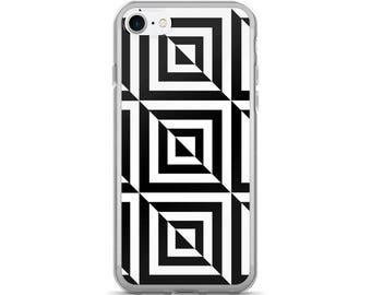 3D Geometric Black and White iPhone 7/7 Plus Case, iPhone Covers, iPhone Cases, Trendy Phone Case, iPhone Seven, Phone Accessories