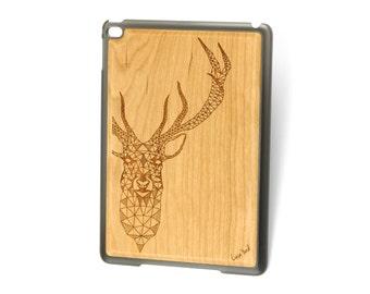 iPad Air case, iPad Mini case, iPad Mini 2 case, iPad 3 case, iPad engraved case, custom iPad case,Deer wood engraved case
