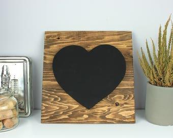 Nursery heart chalkboard decor, Nursery wall art, Rustic chalkboard decor, Nursery wall decor wooden, Nursery rustic decor, Real chalkboard