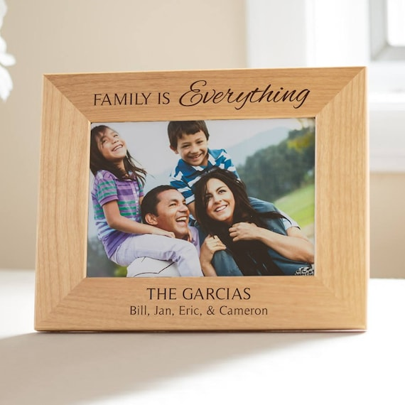 Personalized Family Picture Frame: Personalized Family Gift