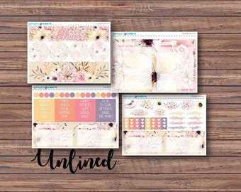 Elegance Notes Page Kit | Erin Condren Planner Stickers | Horizontal & Vertical | Monthly Notes Page