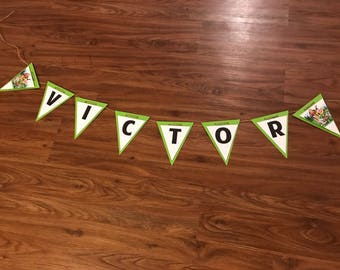 Nature Cat Birthday Party PERSONALIZED Banner Bunting Garland