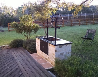 The Apple | Santa Maria Grill Kit for a Masonry firebox | Fits a 48.5 X 24.5 X 14 Firebox |